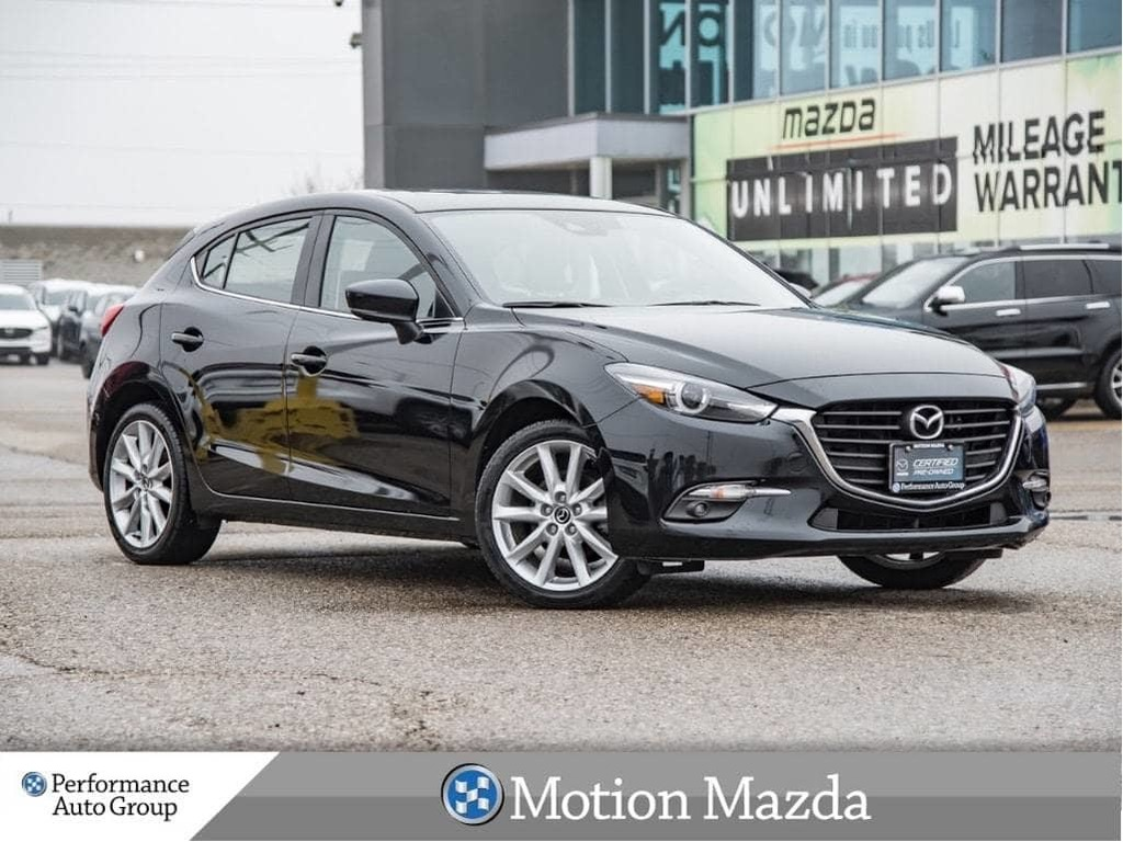 Certified Pre Owned 2017 Mazda3 Sport Gt 6spd Cpo Eligible Roof Navi Heated Seats